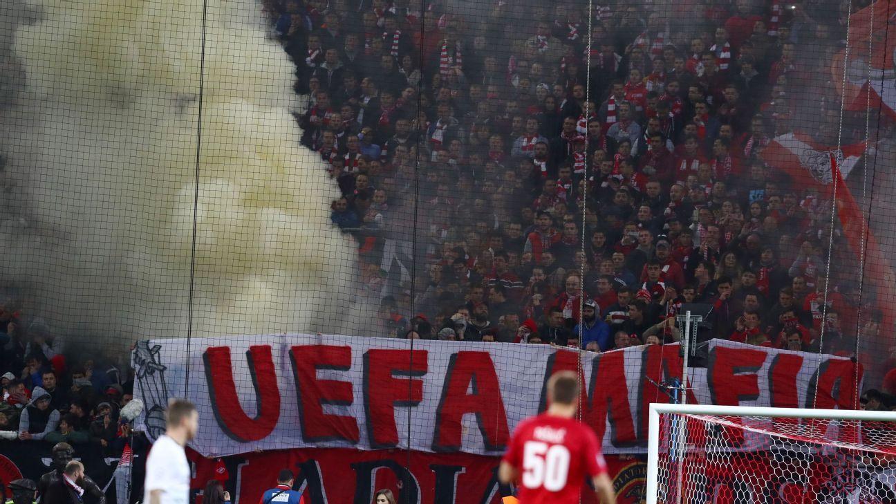 Spartak fans v Liverpool 20170926