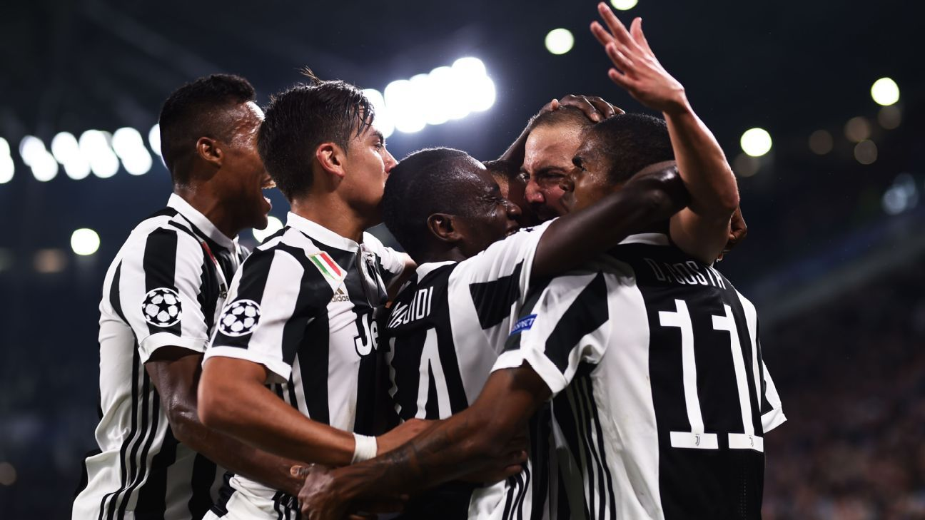 Juventus earned their first points in Group D with a 2-0 win.