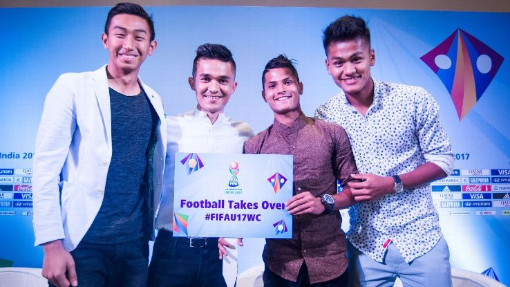 Sunil Chhetri meets India's U-17 players: Chhetri, India's all-time record goalscorer (54), told the U-17 players he would give up 15 years of his international career for a chance to play a World Cup.