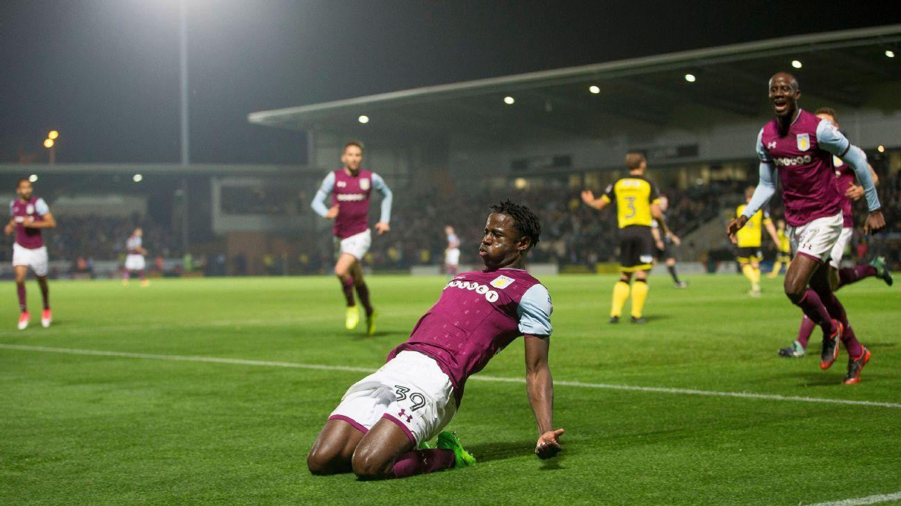 Keinan Davis Aston Villa celeb