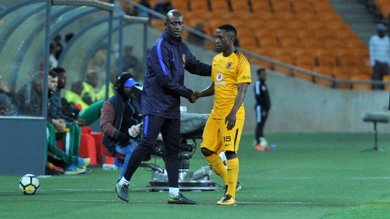 Khotso Malope is one of five development graduates who Kaizer Chiefs coach Steve Komphela and his assistant Patrick Mabedi (pictured with Malope) have brought into the first team for the 2017-18 season.