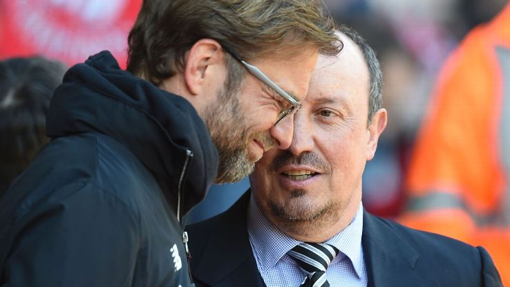 Jurgen Klopp and Rafa Benitez