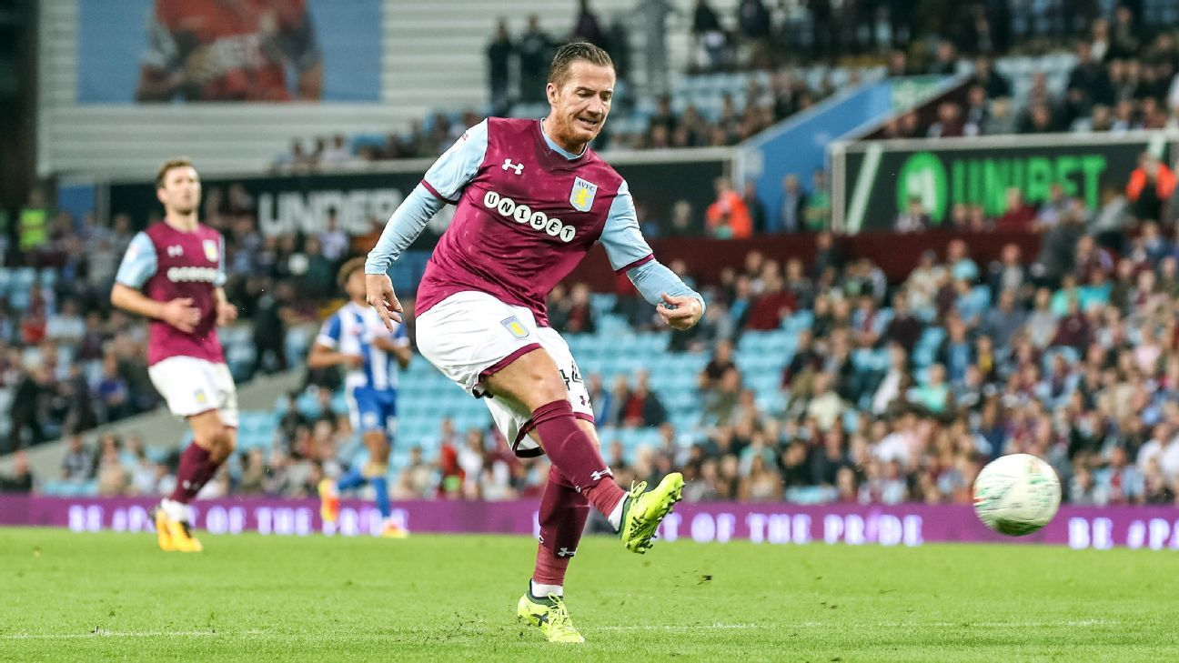 Scotland international Ross McCormack playing for Aston Villa