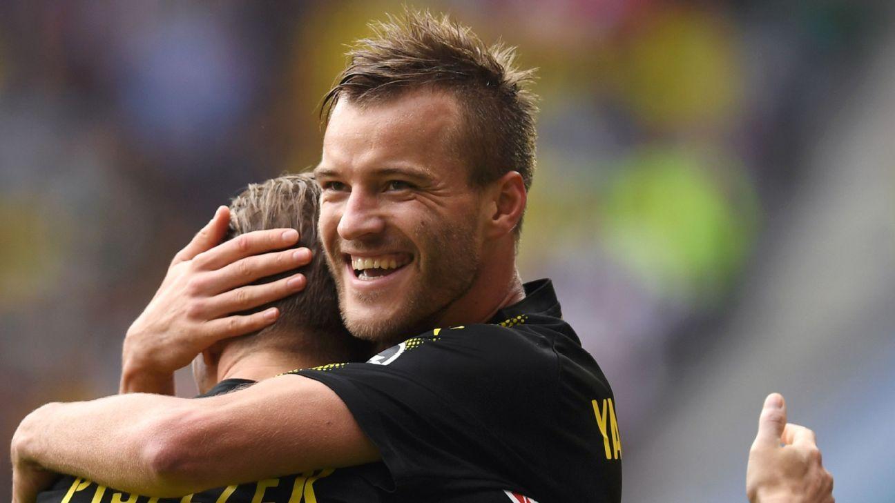 Andriy Yarmolenko Shinji Kagawa lead Dortmund to a gritty win at