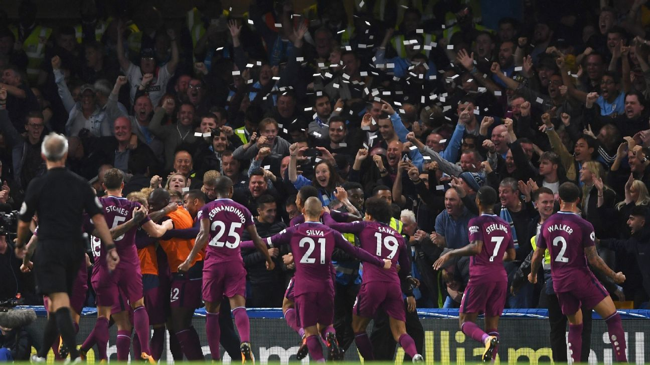 Manchester City dominated proceedings at Stamford Bridge.