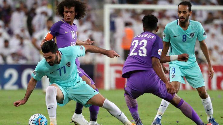 Syria and Al Hilal striker Omar Khribin.vs. Abdulrahman