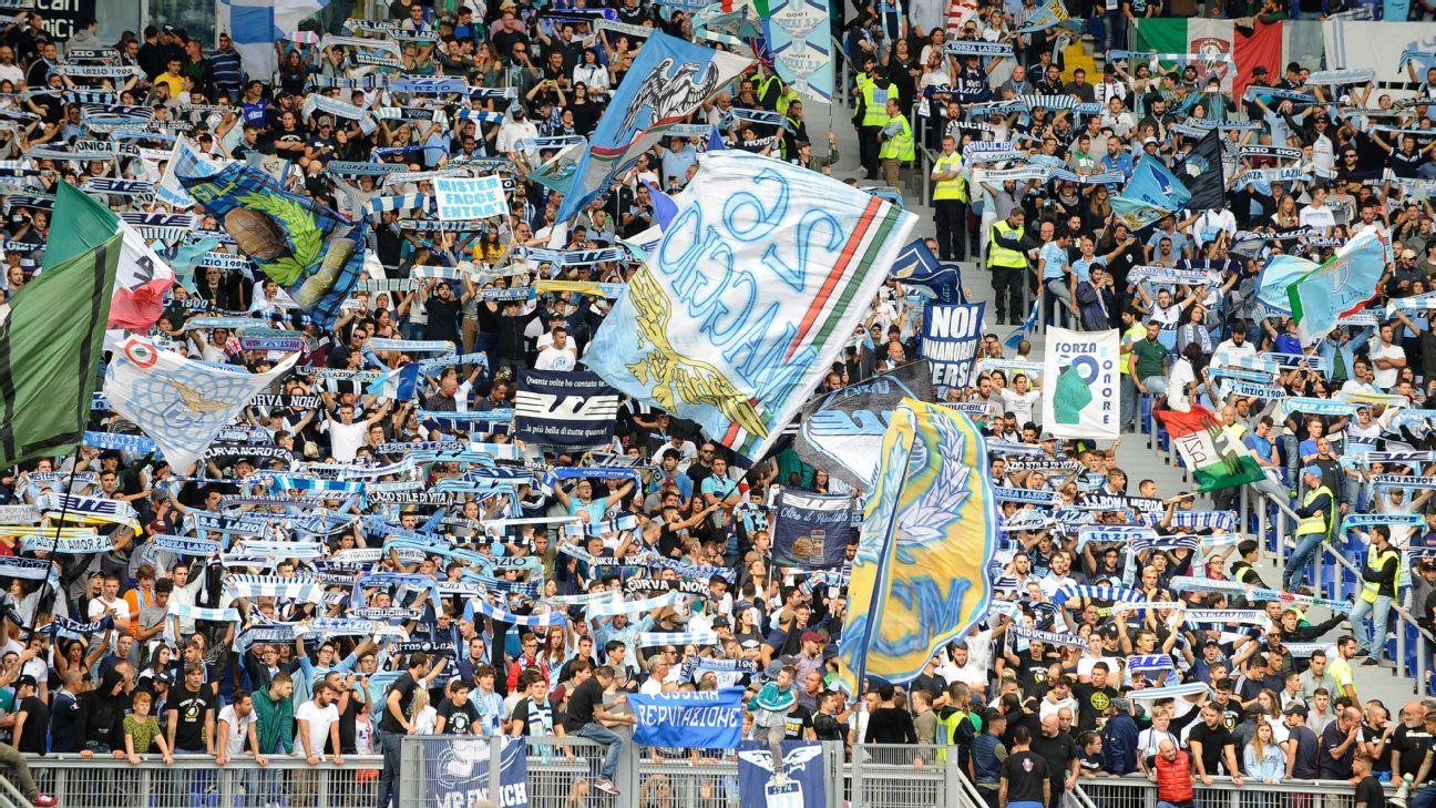 Lazio fans leave anti-Semitic stickers for Roma ultras at