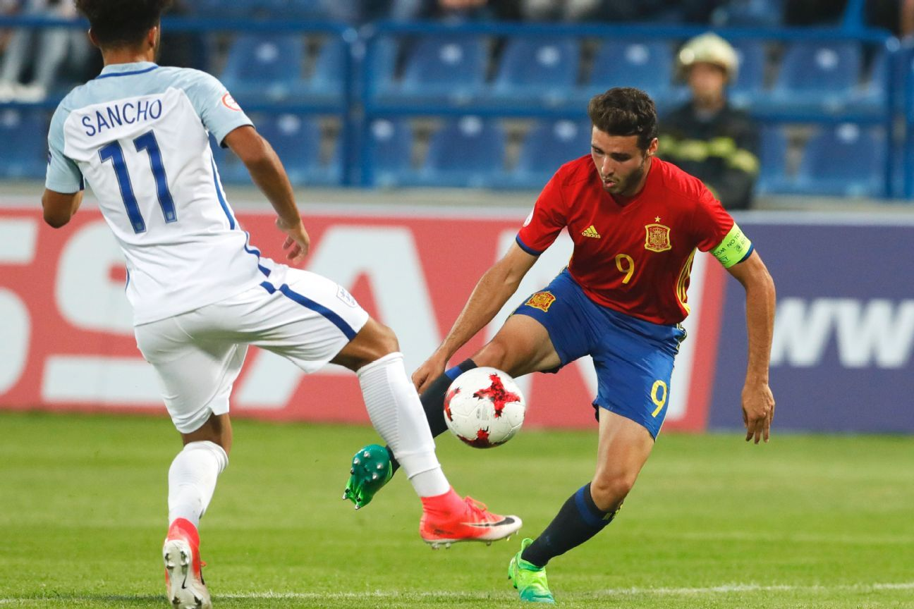 Abel Ruiz (right) is the leading scorer in Spanish U-17 history with 19 goals.