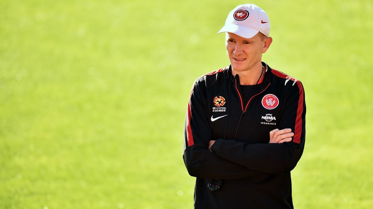 Hayden Foxe during a Western Sydney Wanderers A-League training session.
