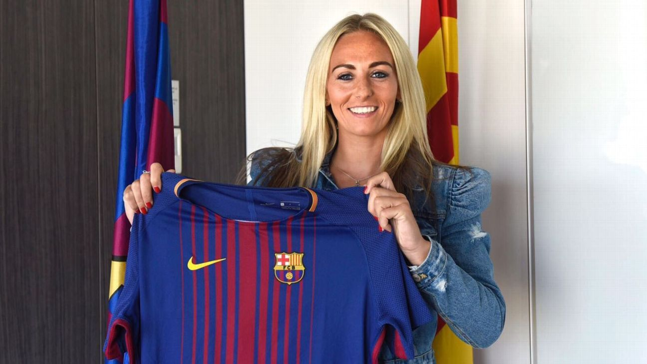 Toni Duggan has spent a year at Barcelona following the move from Manchester City.