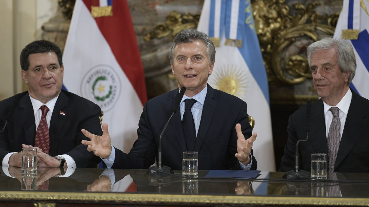 Argentina-Uruguay-Paraguay Cup bid