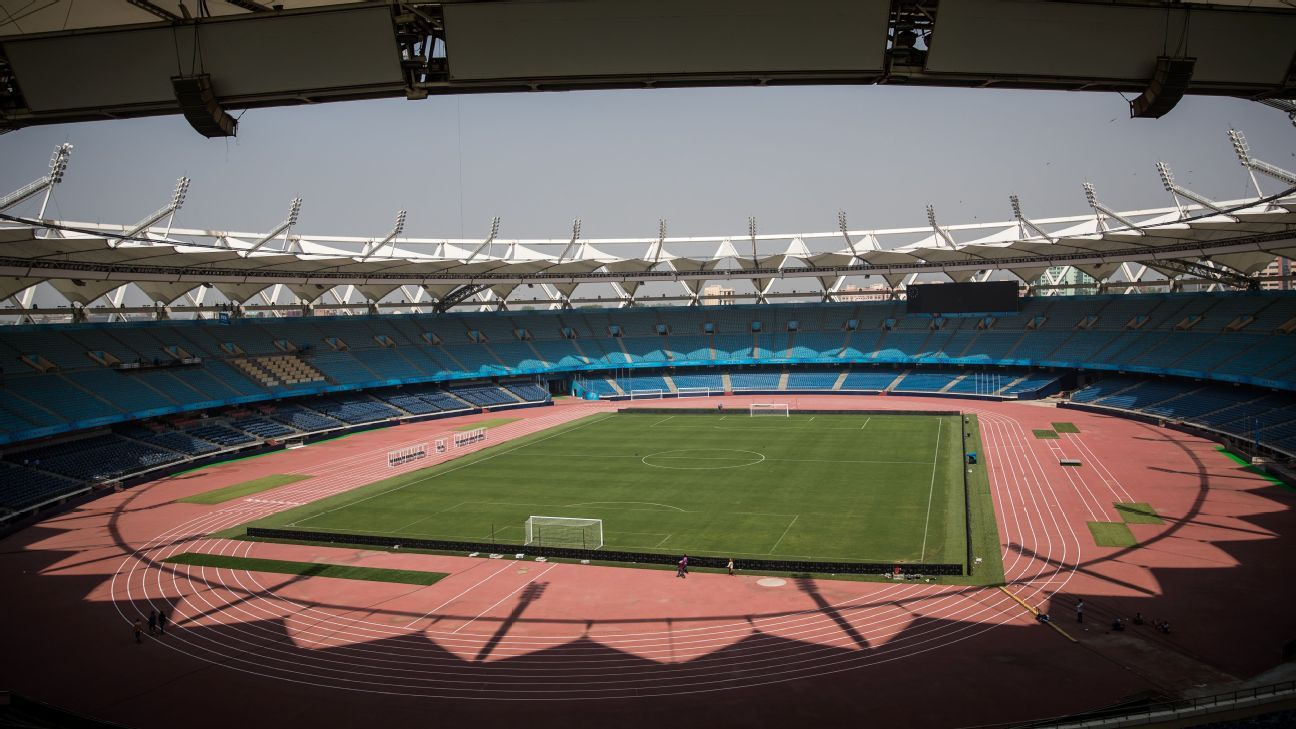 New Delhi's Jawaharlal Nehru Stadium, where Ghana play their opening game against Colombia