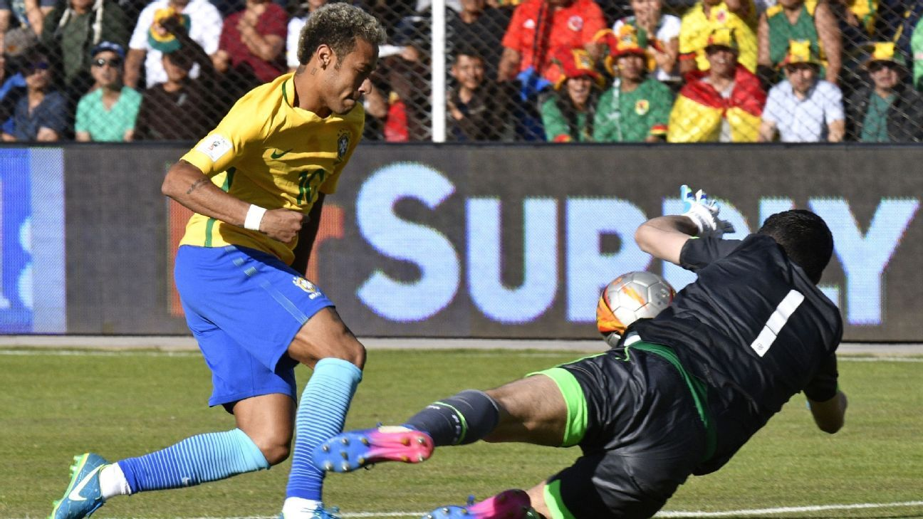 Neymar and Brazil couldn't beat Carlos Lampe and Bolivia on Thursday.