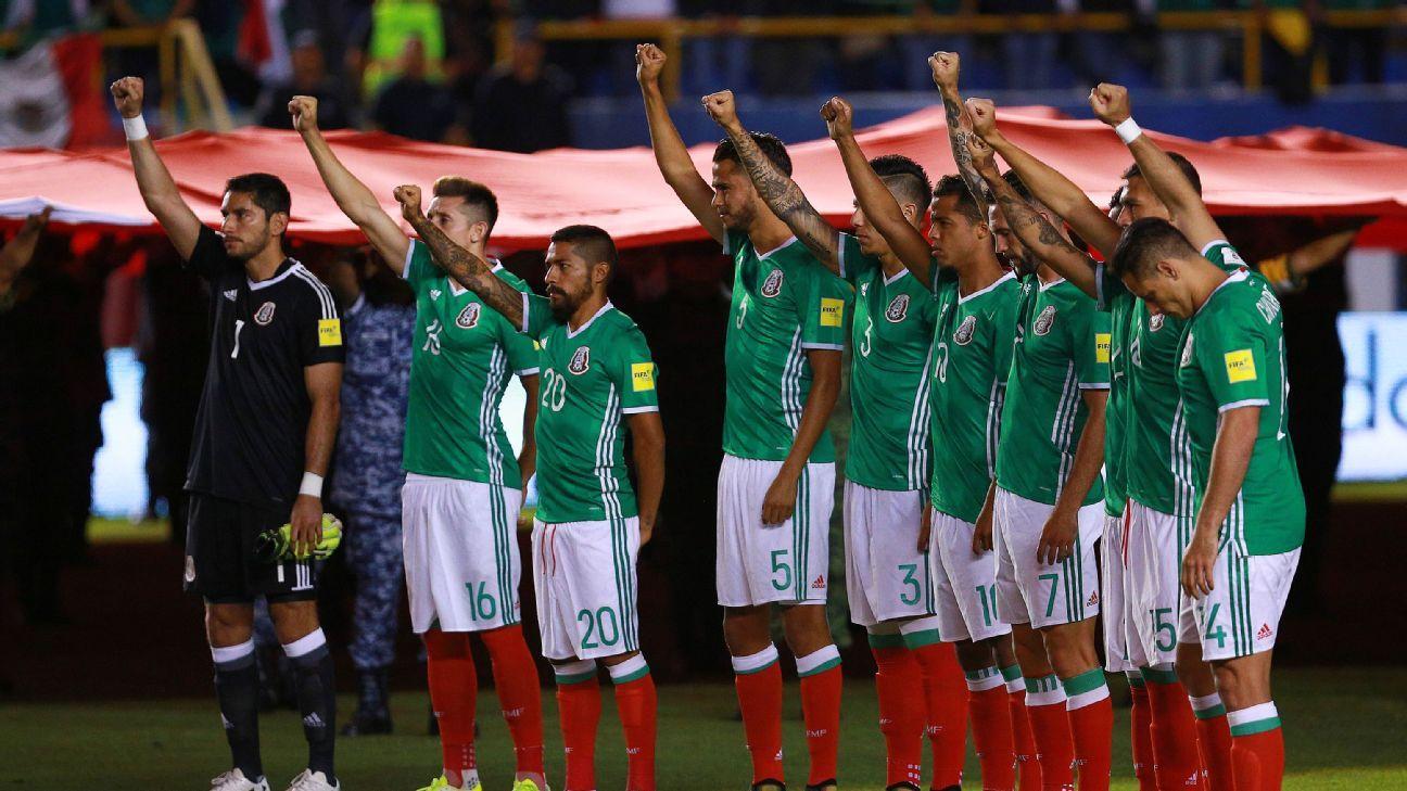 Mexico players salute quake victims 191006