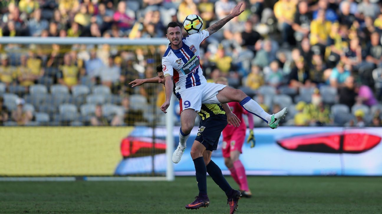 Roy O'Donovan of Newcastle Jets vs. Central Coast