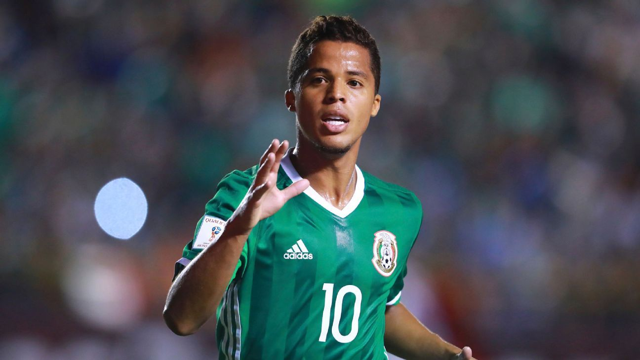 Giovani Dos Santos during Mexico's World Cup qualifying win against Trinidad & Tobago.