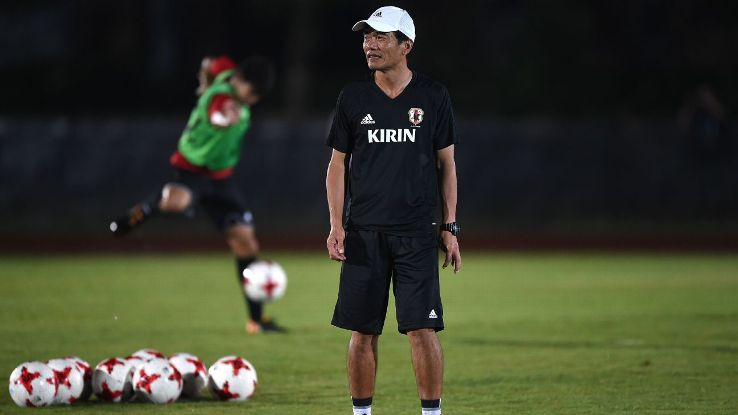 Yoshiro Moriyama was Japan's assistant coach in 2015, when they failed to qualify for the U-17 World Cup.