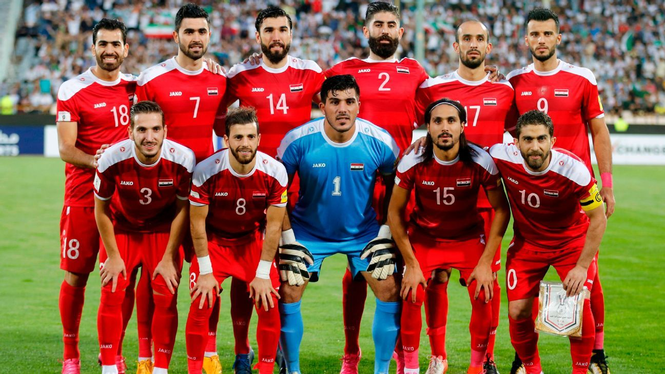 Syria team including Firas Al-Khatib