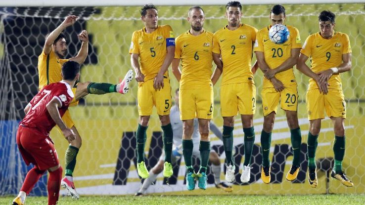 Australia 2017 playoff team vs. Syria