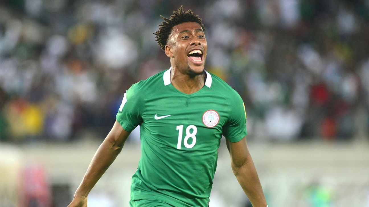 Alex Iwobi of Nigeria