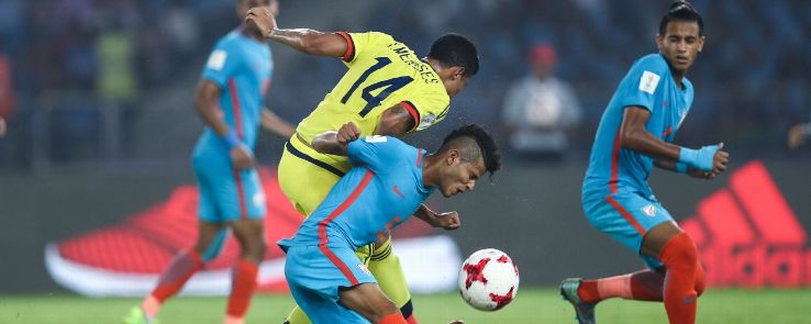 Full-backs Sanjeev Stalin and Boris kept Colombia's wingers at bay.