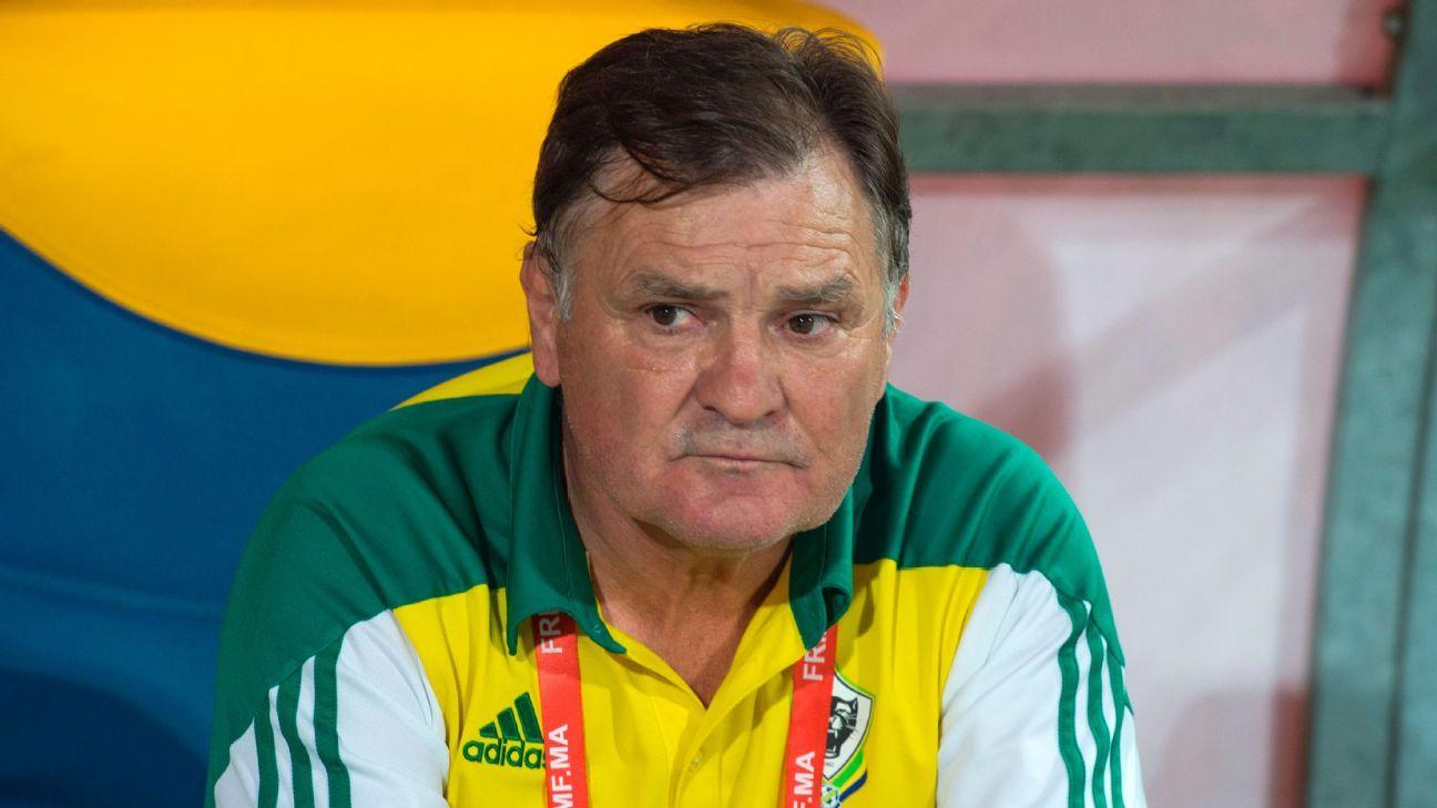 Gabon coach Jose Antonio Camacho