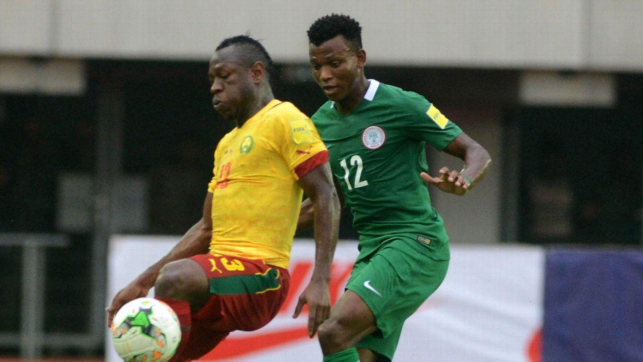 André-Frank Zambo Anguissa of Cameroon & Nigeria's Abdullahi Shehu