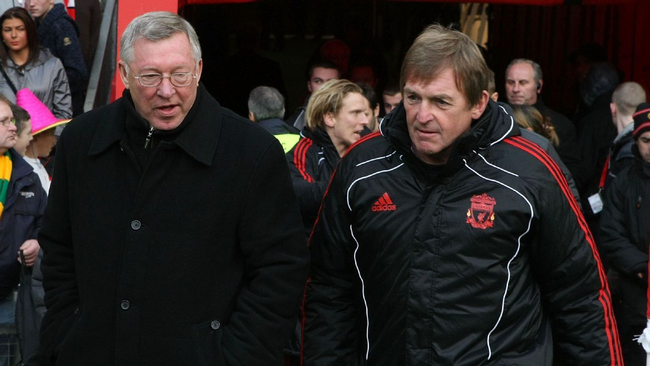 Sir Alex Ferguson and Kenny Dalglish in 2011.