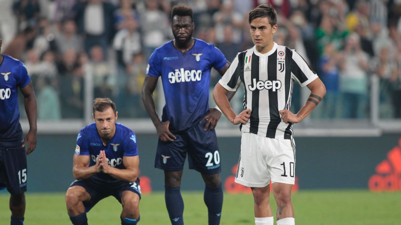 Dybala penalty miss vs Lazio 171014