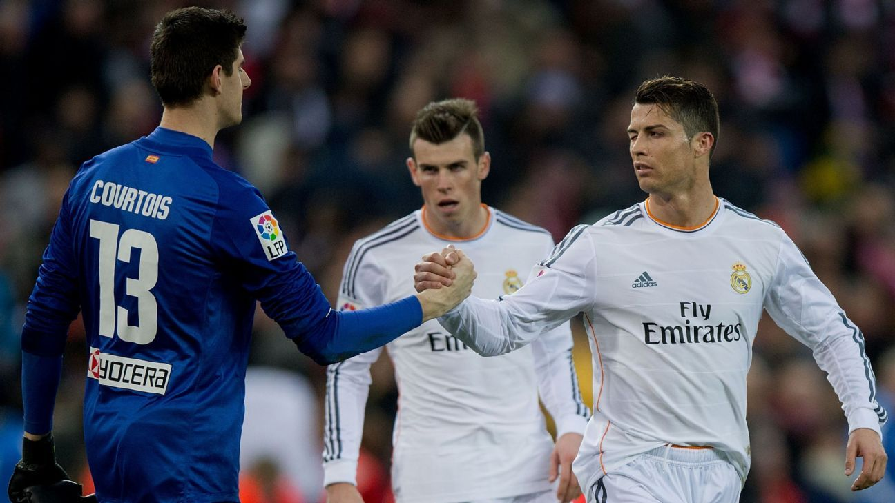 Thibaut Courtois & Cristiano Ronaldo