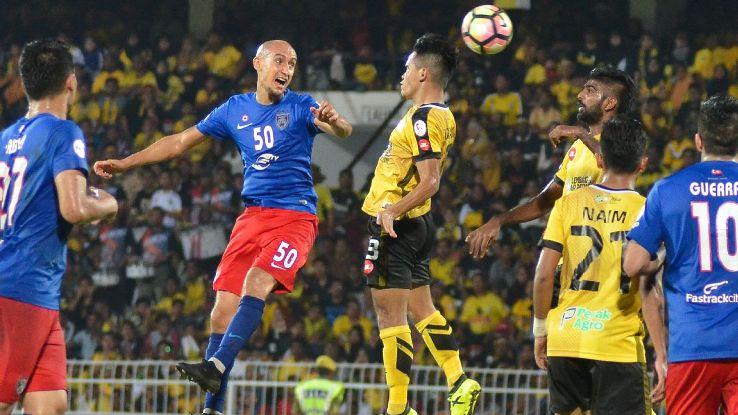 JDT midfielder Natxo Insa in 2017 Malaysia Cup