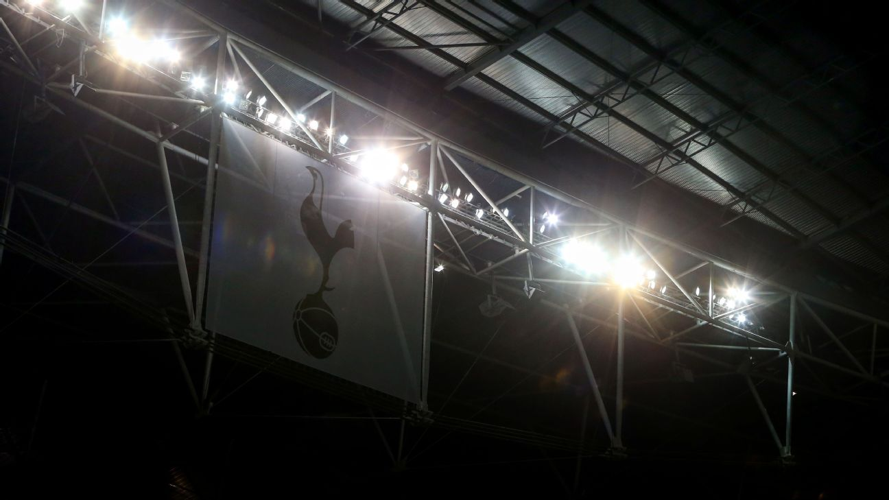 A Tottenham Hotspur banner at the Champions League game against CSKA Moscow.