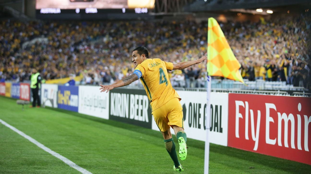 Tim Cahill second goal celebration vs. Syria