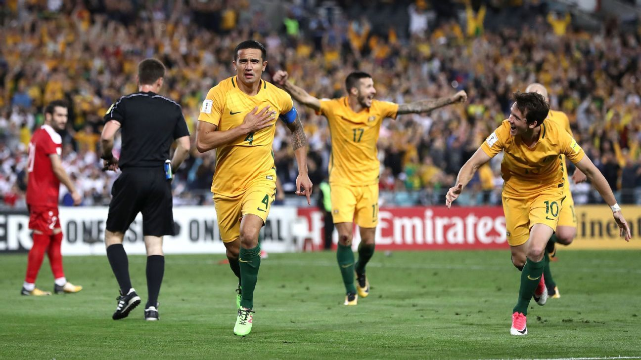 Tim Cahill second goal celebration against Syria