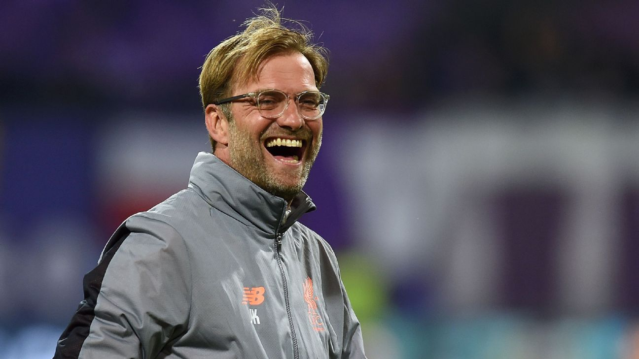 Jurgen Klopp reacts to Liverpool's Champions League win against Maribor.