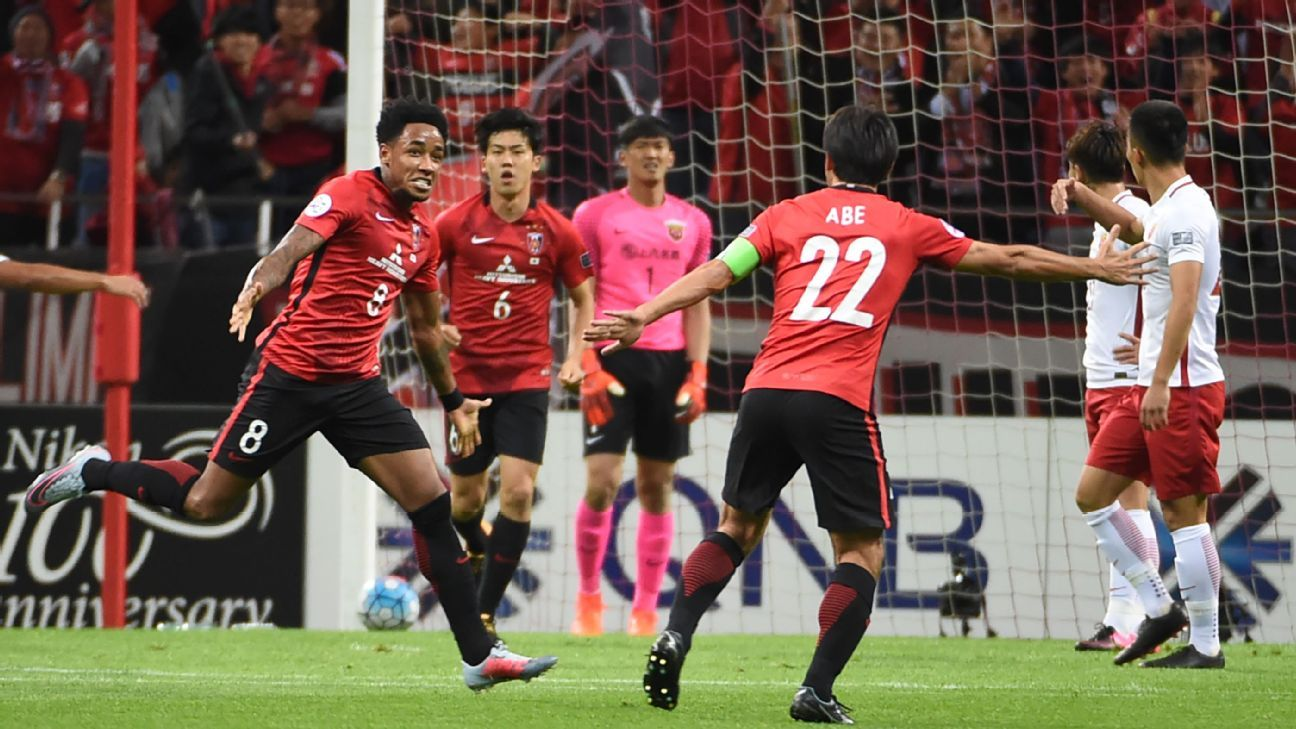 Rafael Da Silva scores for Urawa vs. SIPG