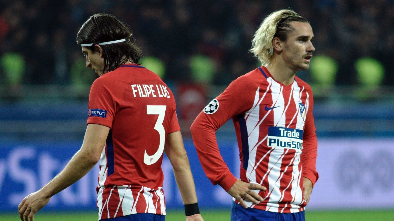 Atletico Madrid's Antoine Griezmann concerned after Qarabag draw