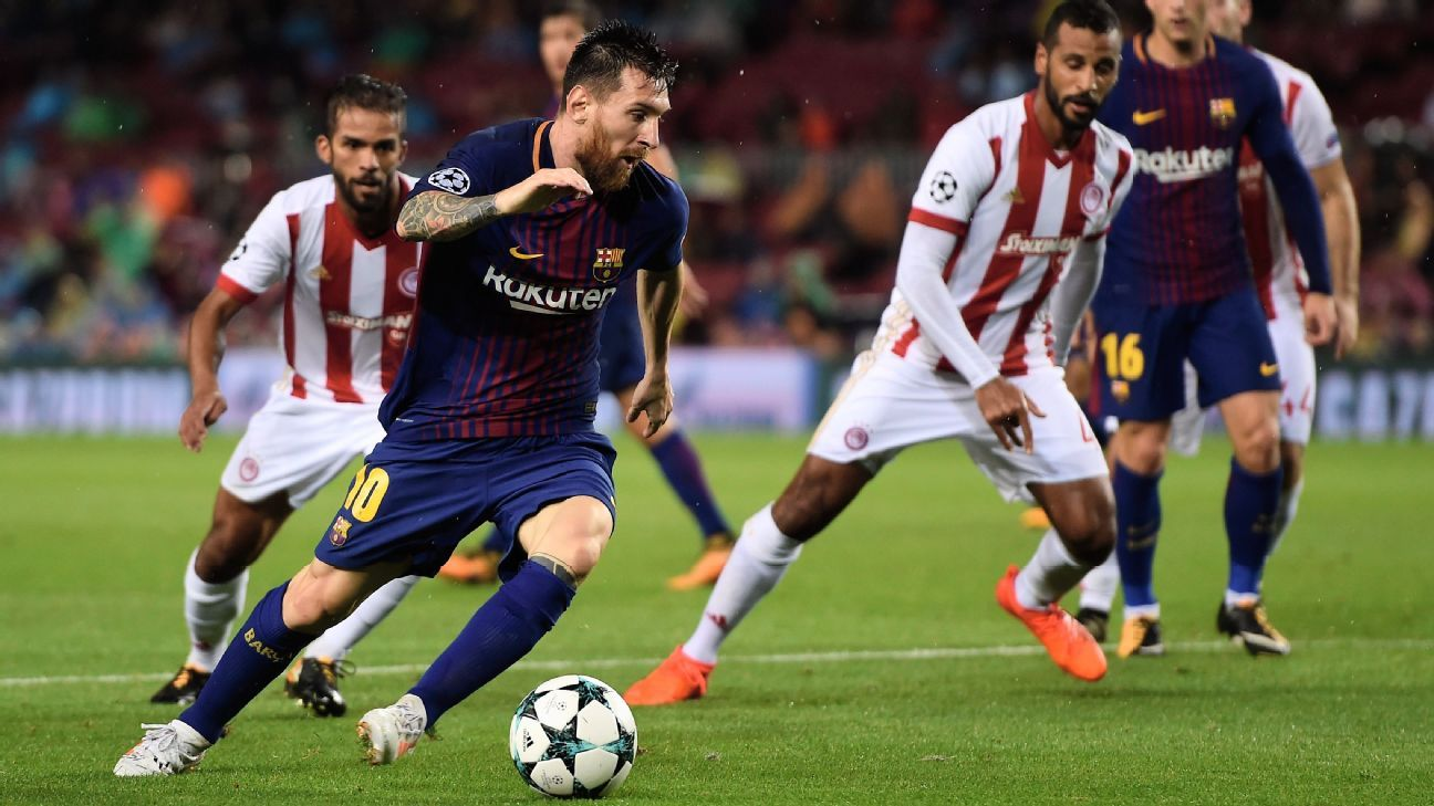 Messi action vs Olympiakos 171018
