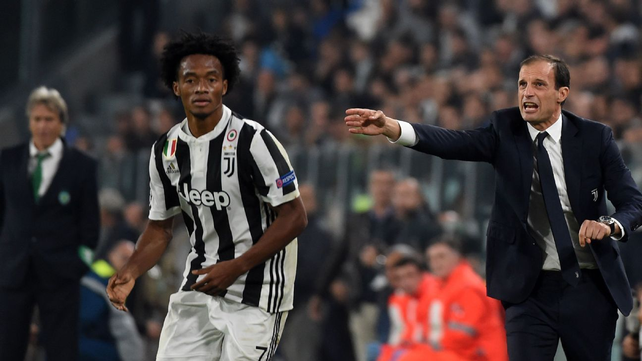 Allegri Cuadrado vs Sporting 171018
