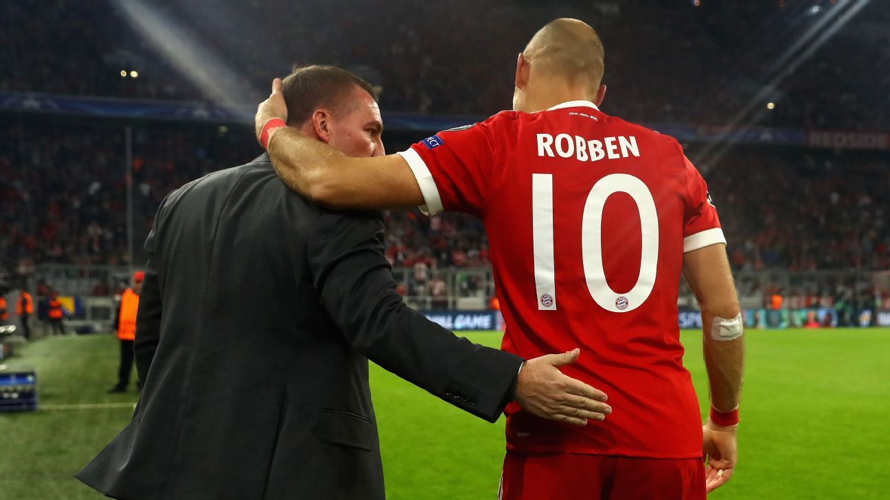 Rodgers Robben pre Celtic Bayern 171018