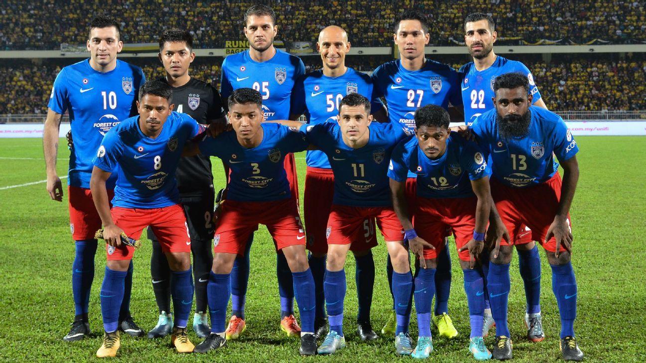 JDT starting team vs. Perak 2017 Malaysia Cup