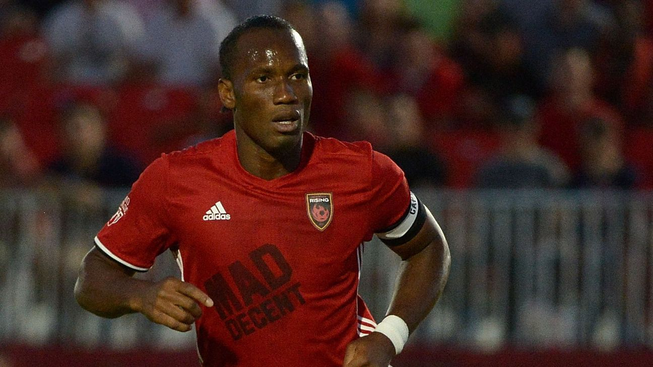 Didier Drogba joined Phoenix Rising in 2017 as player and co-owner.