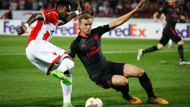 Arsenal were made to work hard in Serbia.