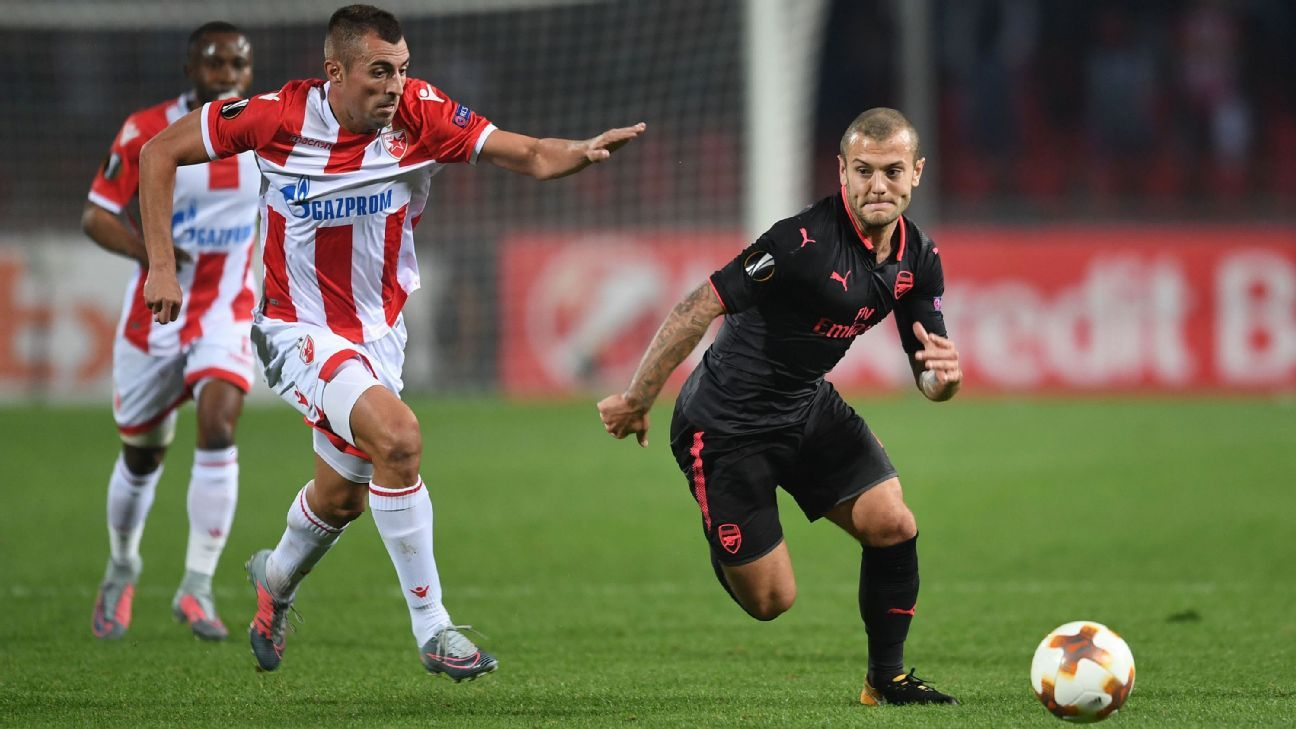 Jack Wilshere vs. Red Star Belgrade