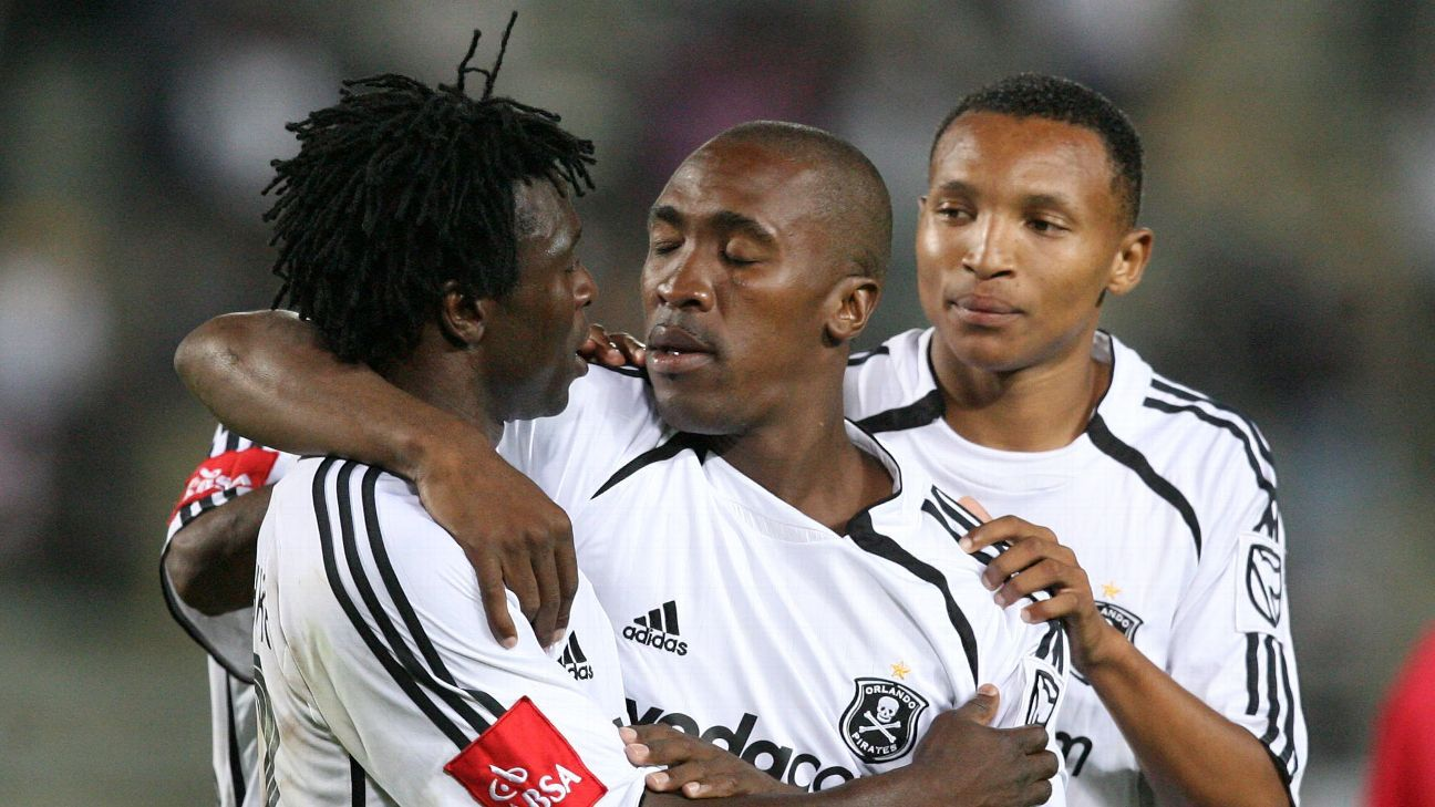 Tebogo Mashaba, Gilbert Mushangazike and Excellent Walaza of Orlando Pirates