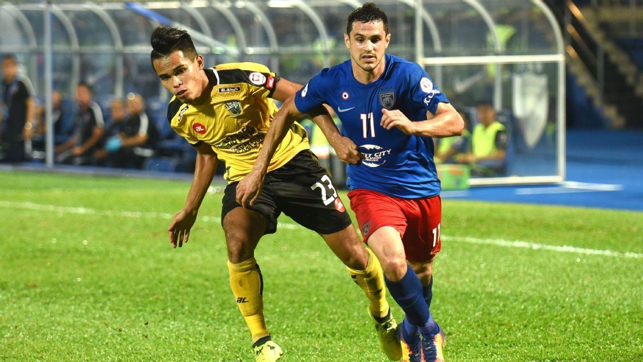 Gonzalo Cabrera of JDT vs. Perak in Malaysia Cup SF