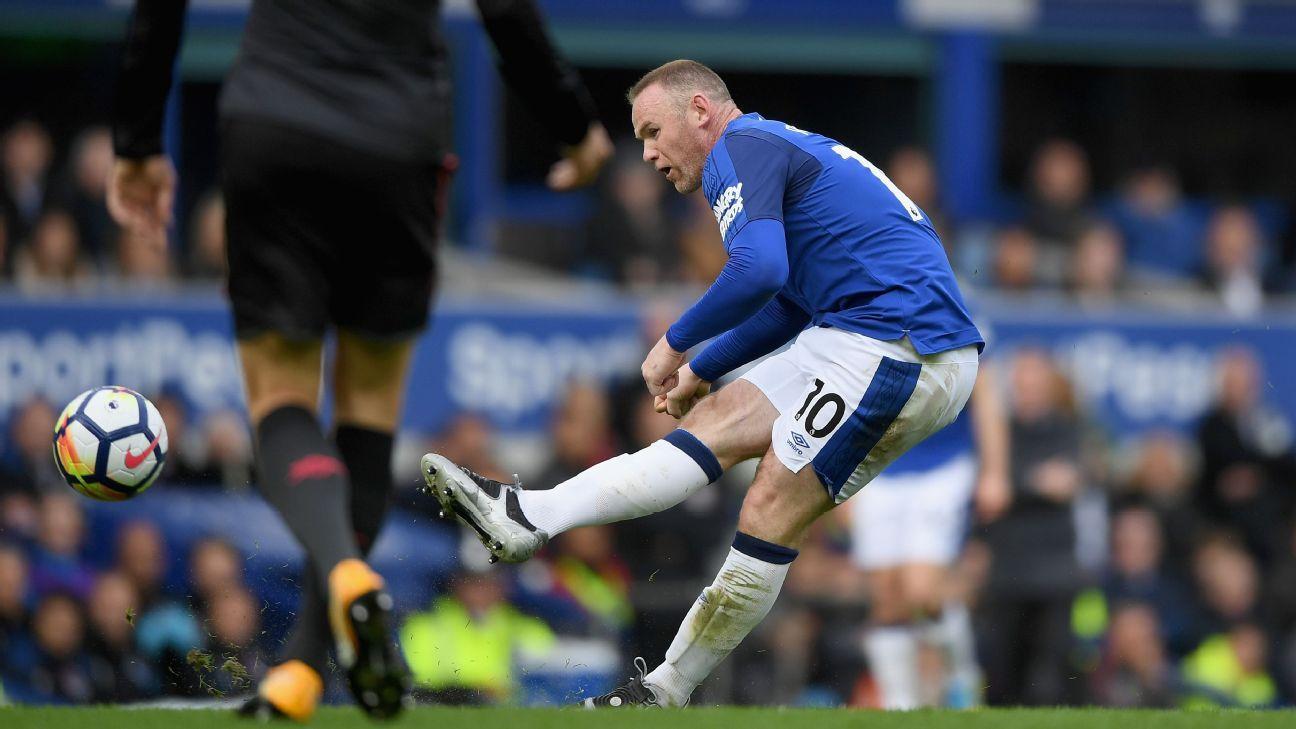 Wayne Rooney goal v Arsenal 20171022