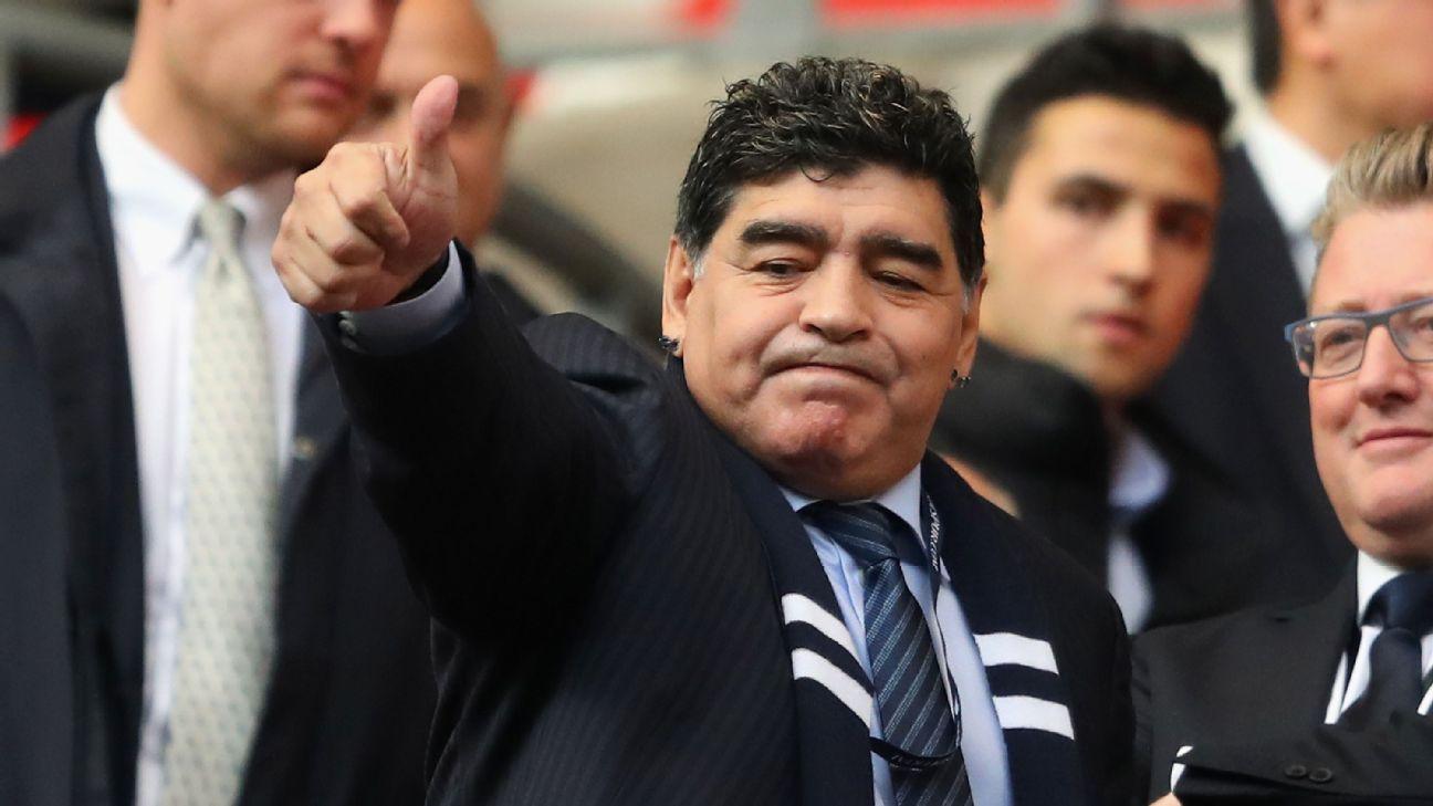 Diego Maradona Tottenham v Liverpool