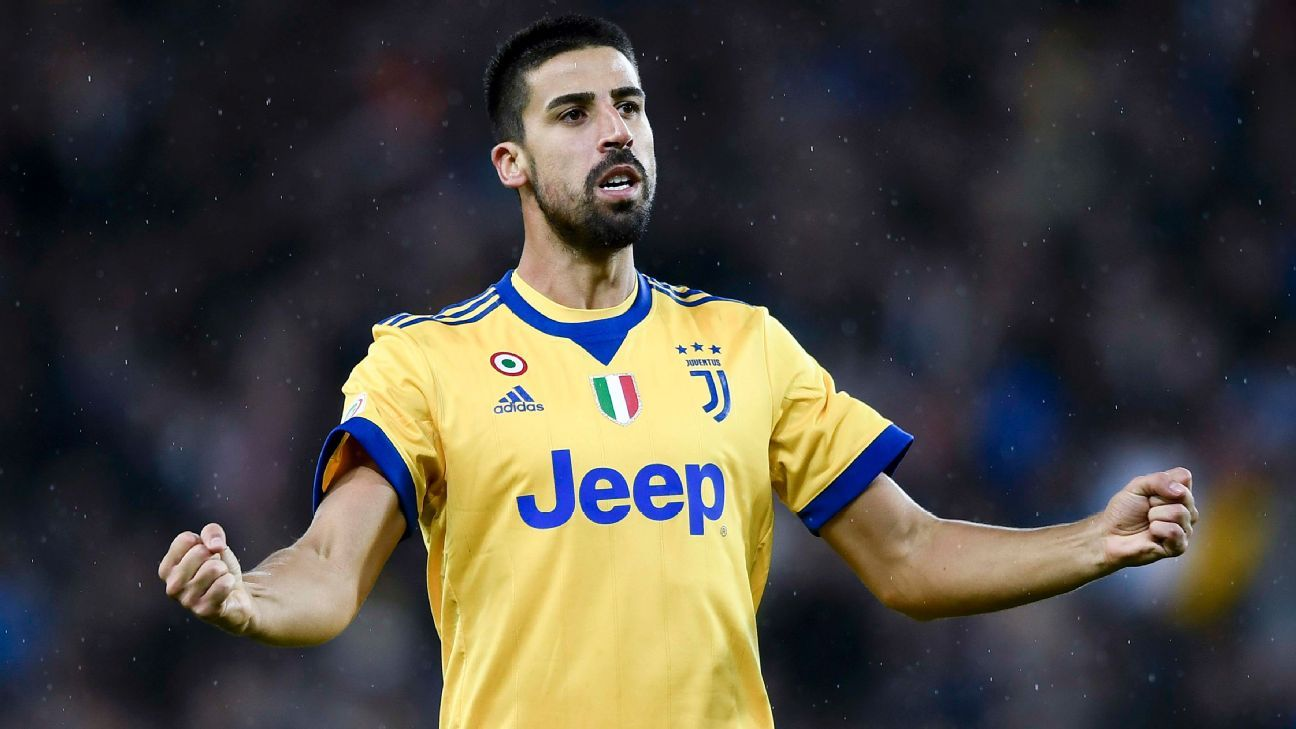 Khedira scored a hat trick for 10-man Juventus on Sunday.
