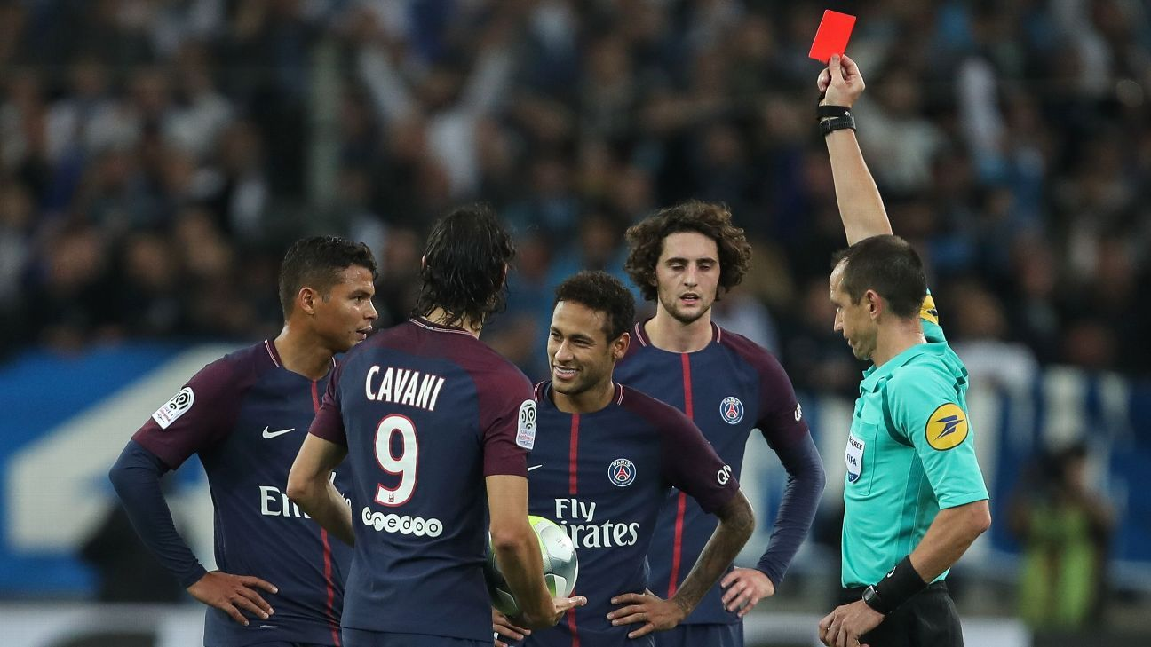 Neymar red card vs. Marseille